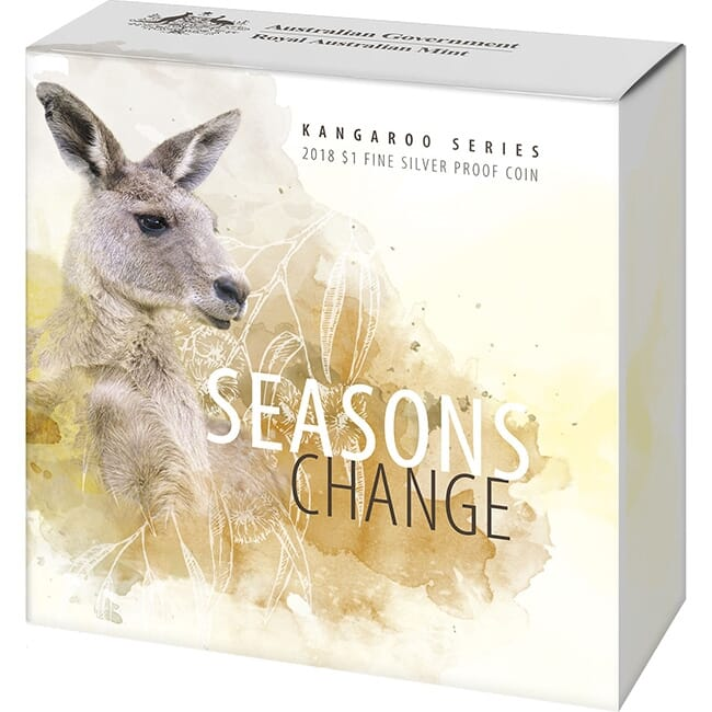 2018 Kangaroo Series Seasons Change SUMMER  $1 1oz Silver Proof Coin RAM