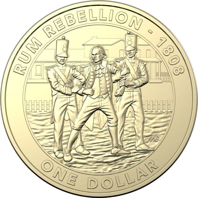 The Rum Rebellion $1 Coin 2019 Australia Mutiny and Rebellion